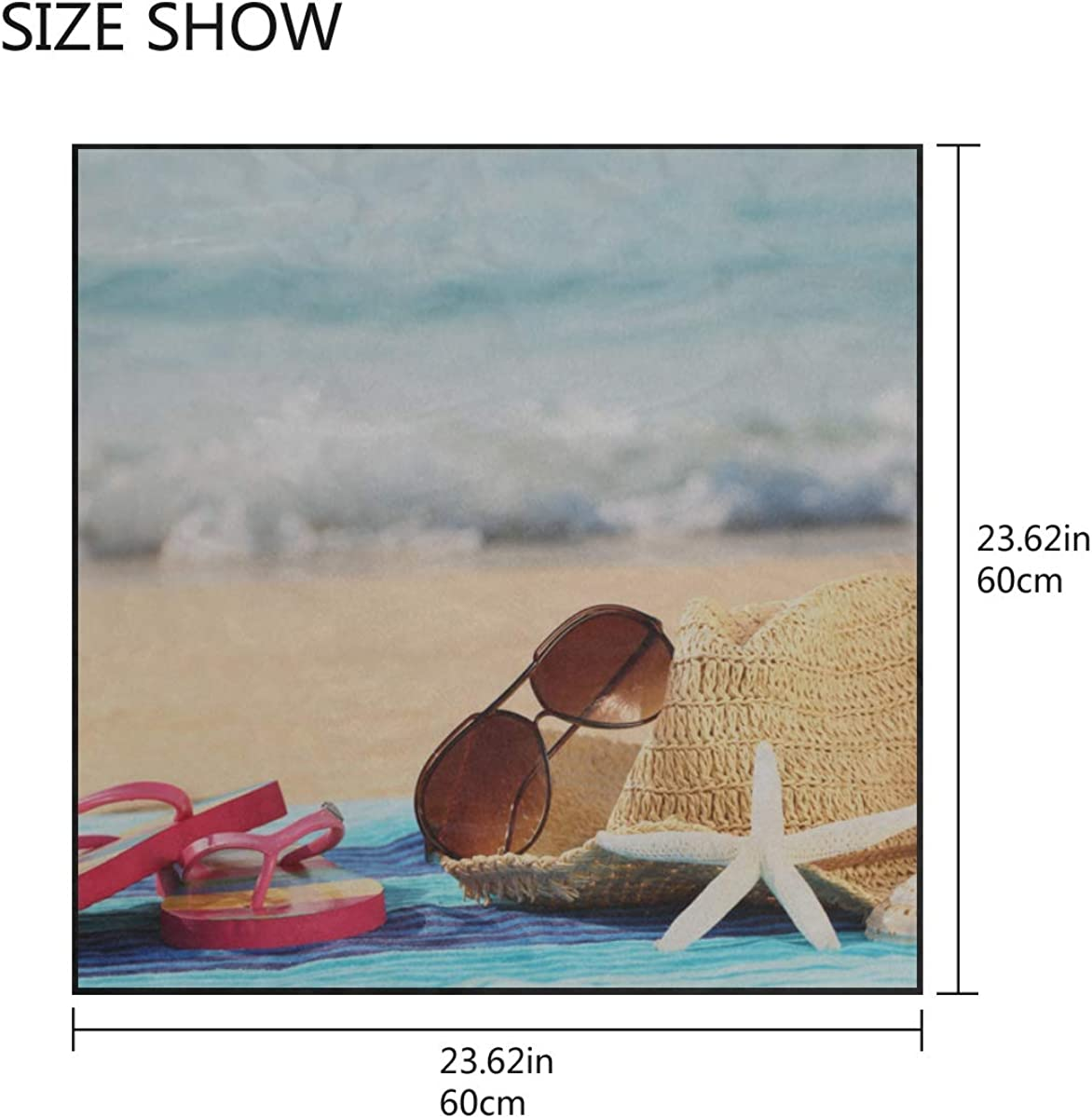 Soft Polyester Silk Girls Scarf Fashion Print Colorful Flip Flops On The Beach Wall Scarves Neckerchief Women Face Scarf Mask Multiple Ways Of Wearing Daily Decor