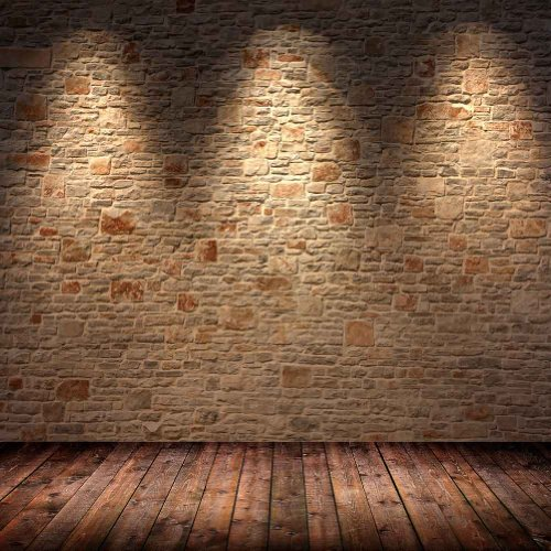 GladsBuy Stone Wall 10' x 10' Computer Printed Photography Backdrop Stone Wall Theme Background ZJZ-961 -