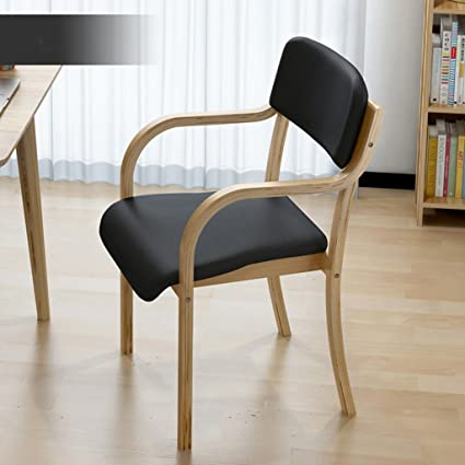NNN  Simple Nordic Solid Wood Dining Chair Modern Minimalist Desk Chair  Single Casual Wooden Chair