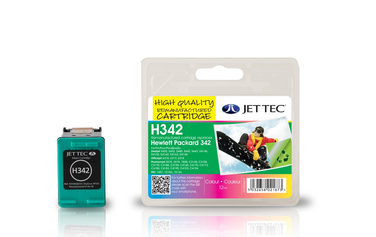 Jet Tec HP 342 C9361 - Cartucho de Tinta para impresoras (Cian ...
