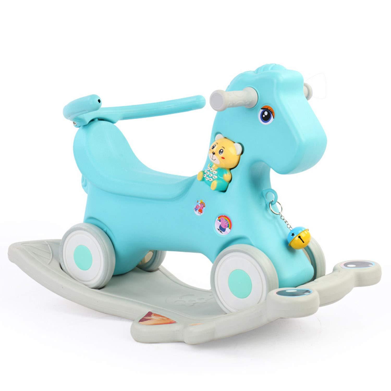 Baby Schaukelpferd Becher Musikspielzeug Baby-Komfortstuhl Dicker Kunststoff Multifunktion Kindergarten 1-6 Jahre Alt Grün