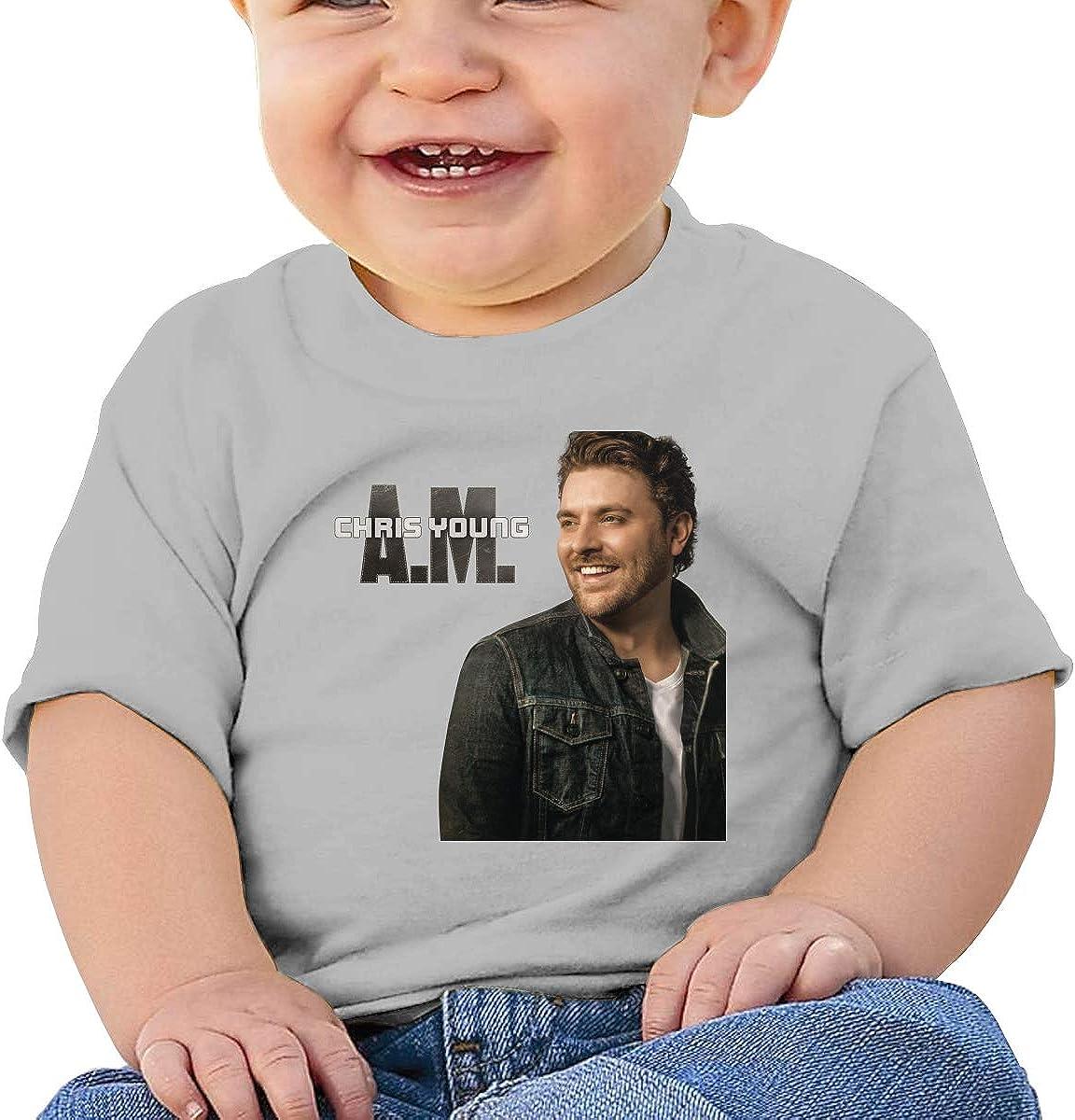 Honshang Chris Young A.M Cute Gray Tshirts for Infant T-Shirts