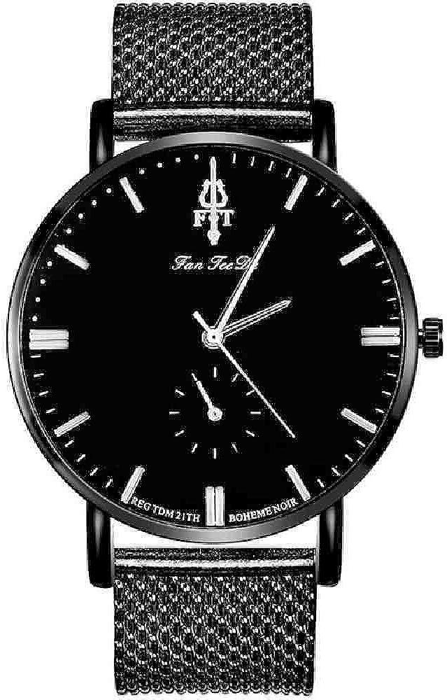 DECTN Reloj de Pulsera Reloj de Moda para Mujer Reloj de Pulsera de Cuarzo con Correa de aleación de Aluminio Mujer Reloj de Acero Inoxidable con diseño de Oro Rosa Patrón de Rey Hoon