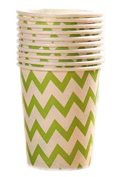 20 copas de papel desechables de 9 onzas (250 ml) para fiesta, provisiones