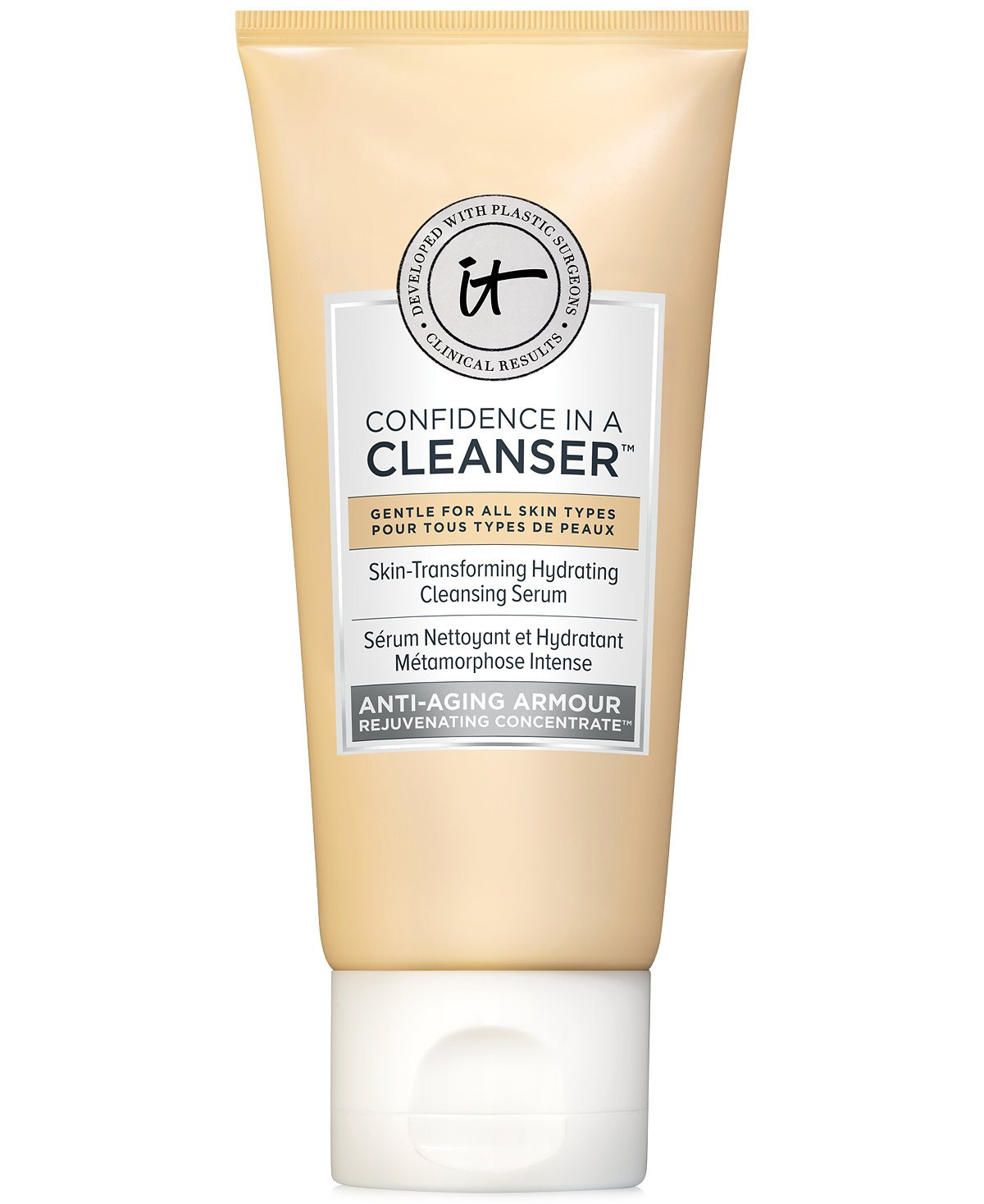 It Cosmetics Confidence In A Cleanser! Skin Transforming Hydrating Cleansing Serum ~ Trial Size Sample ~ 20 ml/ 0.6 fl oz