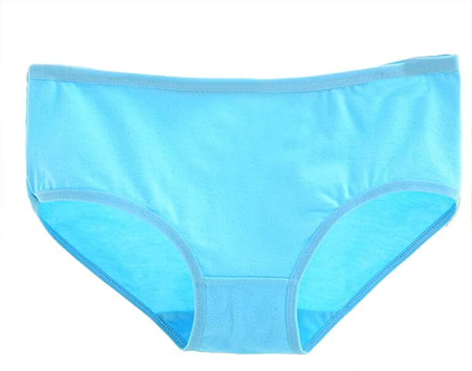 eaa9a0865ab9 Etecredpow Womens Cotton Solid Color 7-Pack Triangle Breathable Tummy  Control Briefs Mid Waist Panty Blue L at Amazon Women's Clothing store: