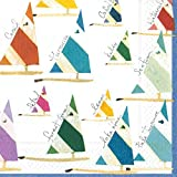 Caspari Set Sail Paper Cocktail Napkins, Pack of 20, Multicolored