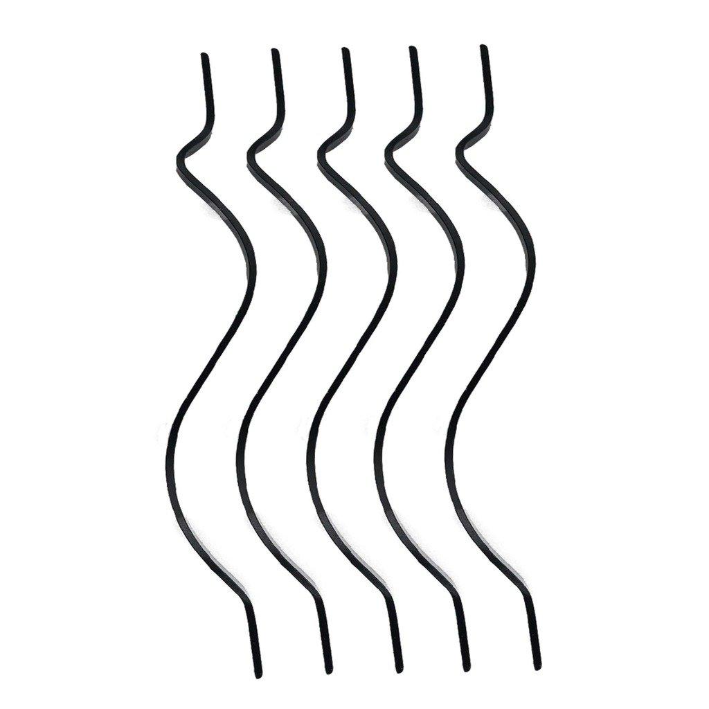 1 in。x 36 1 / 2 in。アルミ鍛造ブラックCurved手すり子、木製デッキ手すり – 面材キット( 5 - Pack ) B075VPCJWN 19716
