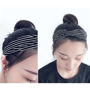 Lunji - Diadema de rayas bohemias - elástica para la cabeza ...