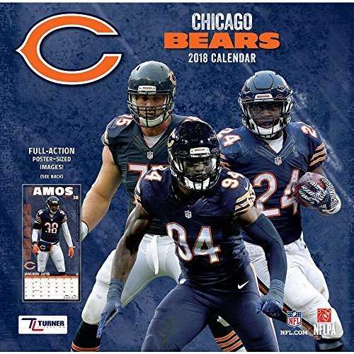 2018 Chicago Bears Wall (Bear Calendar)