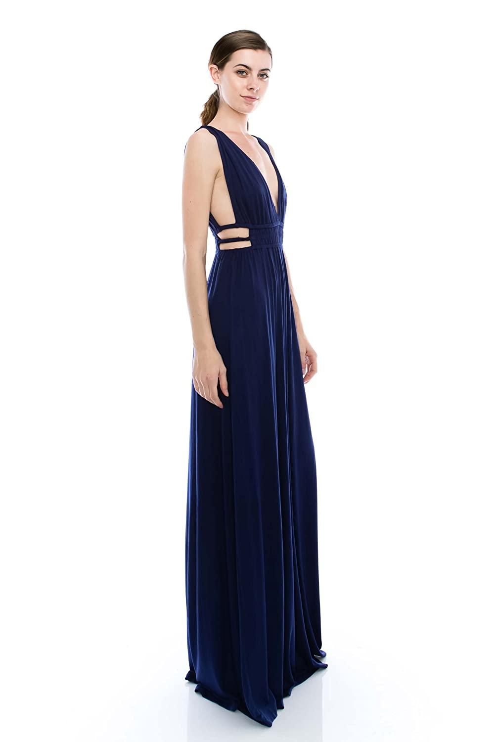 c5f342dd01 Amazon.com: VIRGIN ONLY Women's Easy Fitted Maxi Dress: Clothing