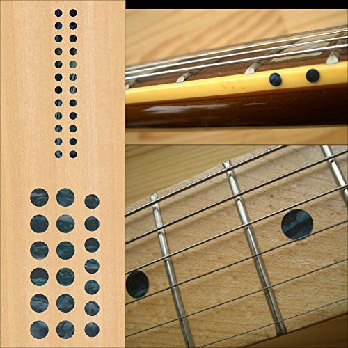 Pearl Dot Inlay - Fretboard Markers Inlay Sticker Decals for Guitar and Bass - Custom Dots Set-BP