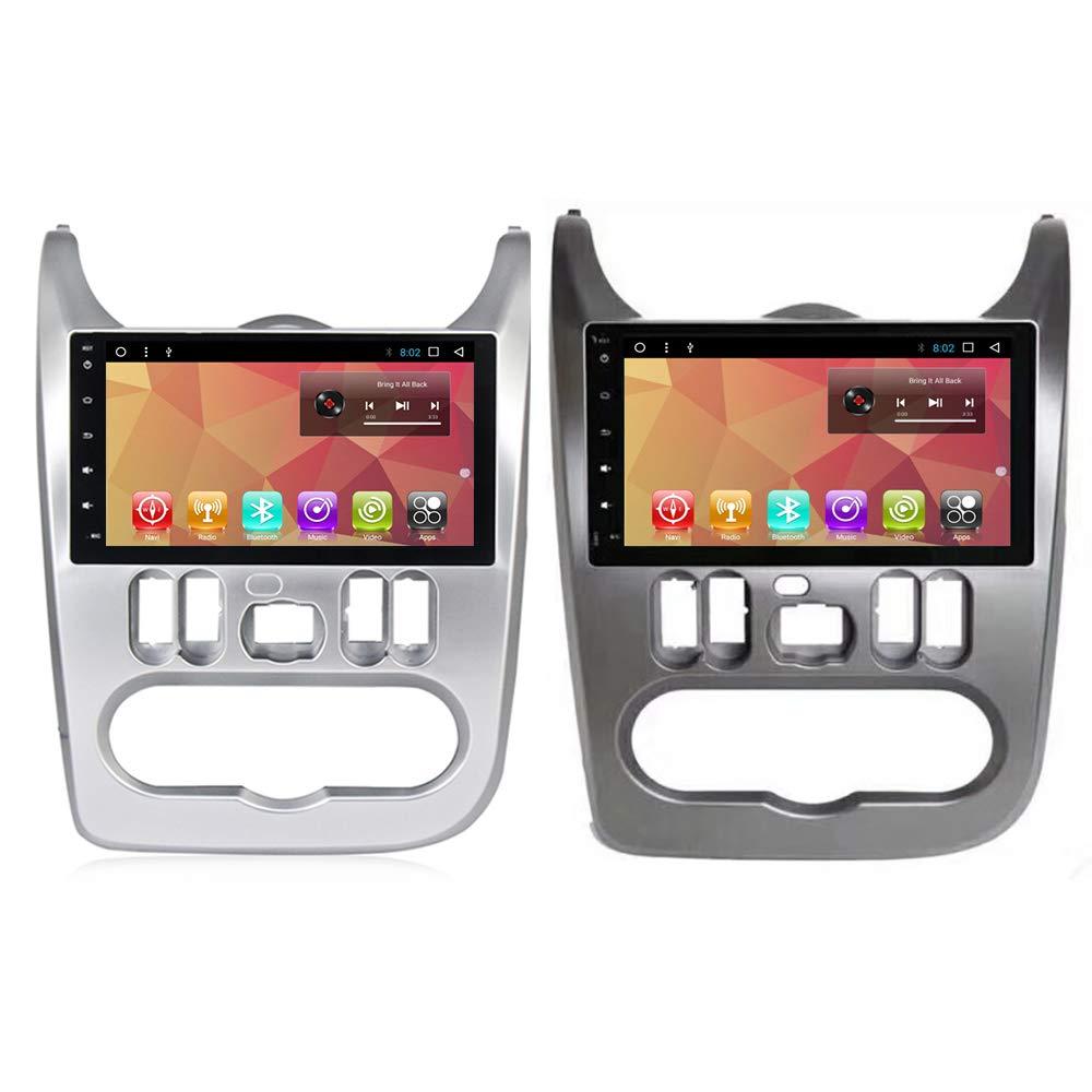 Android 7.1 Car Radio GPS Multimedia Player Navi for Renault Logan Sandero Dacia Duster 9 inch Car Autoradio Headunit Video WiFi BT Navigation (Silver Android7.1 2+32G GPS Renault)