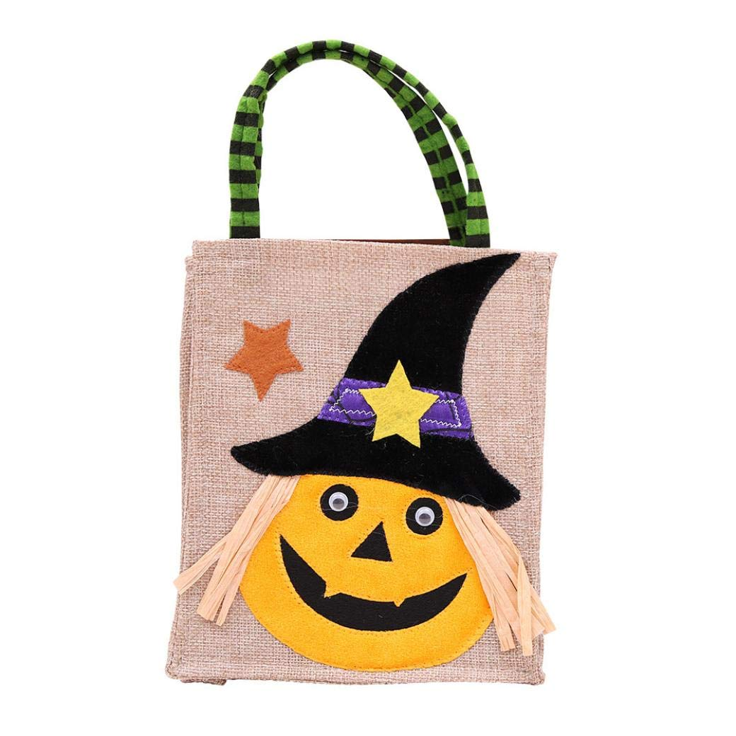 PIKAqiu33 Children Halloween Party Storage Bag Cute Witches Candy Bag Packaging C