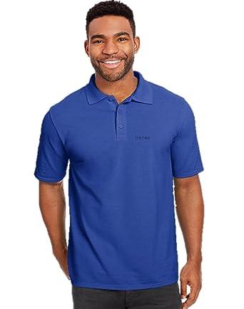 fbb4bad4 Hanes Polo T Shirts Beefy, S.M.L,XL,XXL: Amazon.co.uk: Clothing