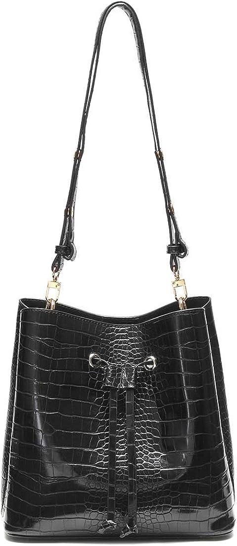 Duomier Designer Bucket Bags for Women Handbags Crossbody bag Shoulder Ladies Leather Medium