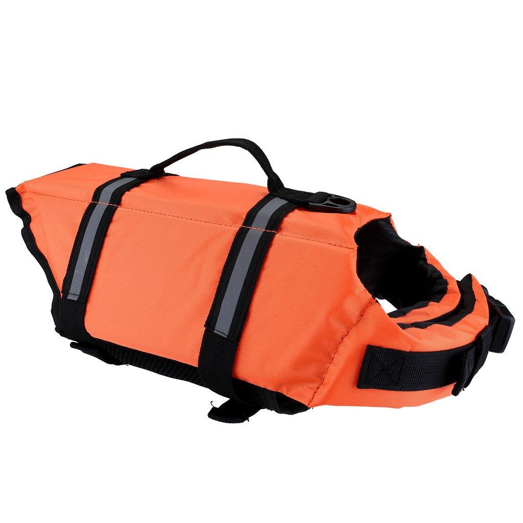 Mogoko Life Jackets for Dogs,Life Jacket,Dog Floatation Vest,Pet Reflective Saver Preserver Life Vest with Reflective Stripes/Adjustable Buckles for Most Size Dogs by Mogoko