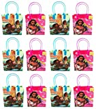 """Arts & Crafts : Moana and Maui Epic Voyages12 Authentic Licensed Party Favor Reusable Small Goodie Gift Bags 6"""""""
