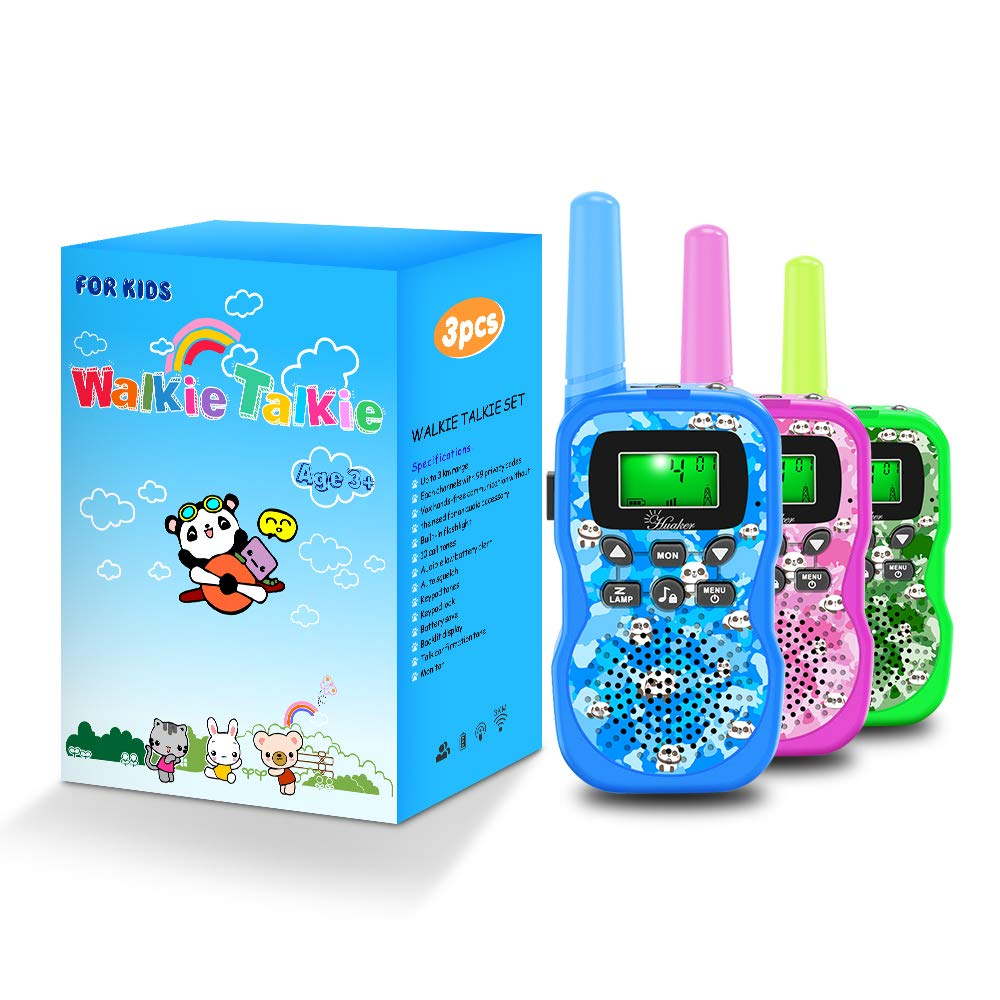 Walkie Talkies for Kids, 3 Pack 22 Channels 2 Way Radio Outside Toy with Backlit LCD Display ,3 Miles Range Kids Walkie Talkies for Outside Adventures, Camping, Hiking by Huaker (Image #7)