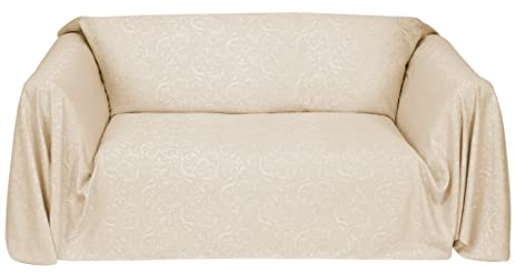 Stylemaster Brianna Jacquard Furniture Throw, Ivory Sofa
