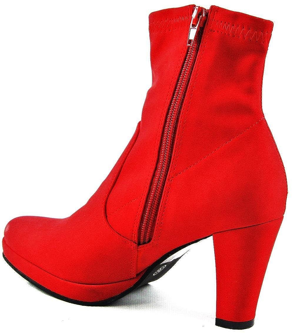 Andrea Conti Invierno Zapatos Botas Botines Rojo 3010 - 11, Color Rojo, Talla 36: Amazon.es: Zapatos y complementos