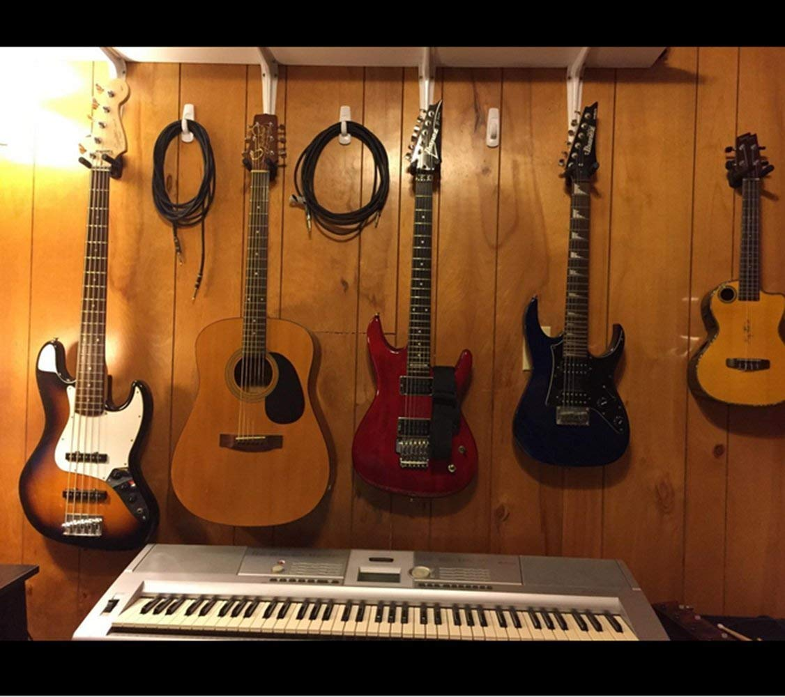 OTRMAX Guitar Holders Hooks Stands Hangers Wall Mount Display with Screws Fits All Size Guitars Bass Mandolin Banjo Ukulele 6-Brackets//pack