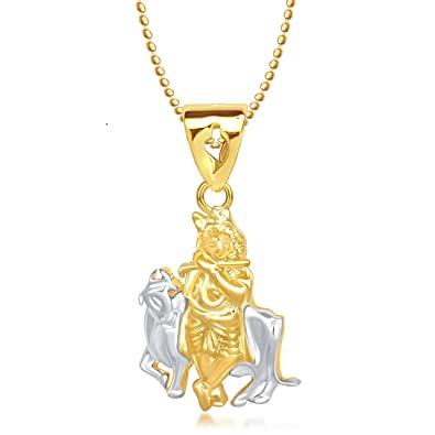 Meenaz shri krishna god pendant gold plated cz in american diamond meenaz shri krishna god pendant gold plated cz in american diamond with chain for men aloadofball Image collections