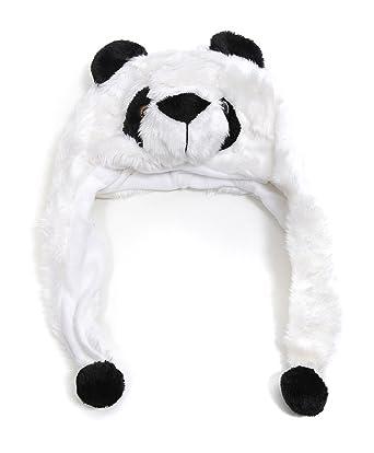 Amazon.com: Oso panda de peluche Sombrero con orejeras: Clothing