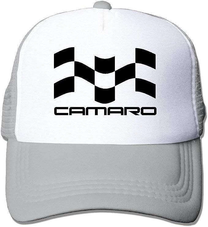 Gjdd Diy Cool Unisex Camaro Racing Flag Ss Trucker Hat Cap Bekleidung