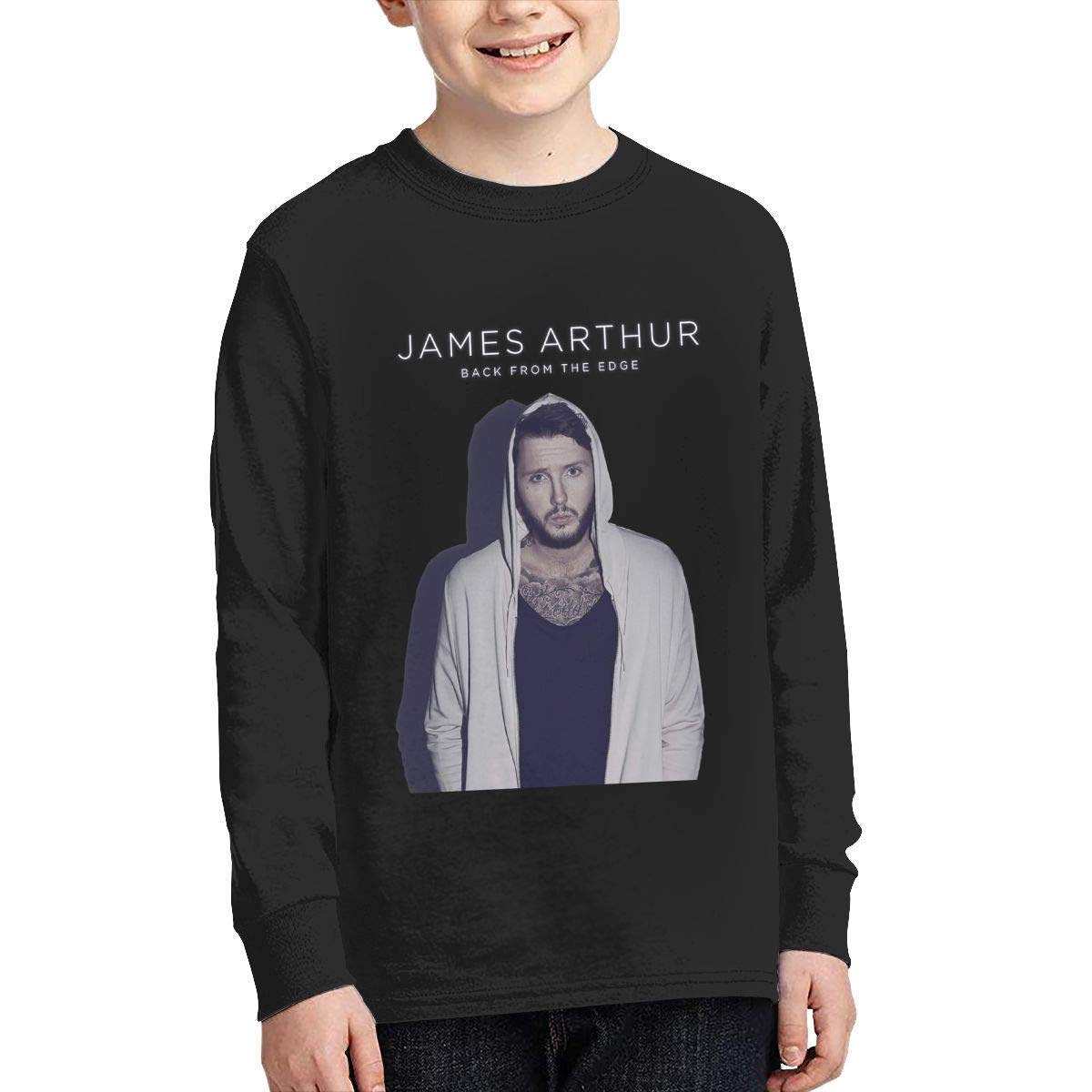 HangHisi James Arthur Boys /& Girls O Neck Regular Style Tee Long Sleeve T Shirt Leisure