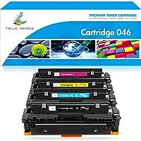 TRUE IMAGE - Cartucho de tóner Compatible con Canon 046 MF733 CRG-046 Color ImageCLASS MF733Cdw MF731Cdw MF735Cdw LBP654Cdw 046K 046C 046Y 046M (Negro, Cian, Amarillo, Magenta, 4 Unidades)