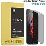 SZEETECH iPhone 6S/6/6 Anti-Spy Protection d'écran en verre trempé Compatible 3D Touch 0.3 mm dureté 9H anti-rayures/Anti-traces, sans bulles Film de confidentialité/2 voies 180 degrés Privacy Protec
