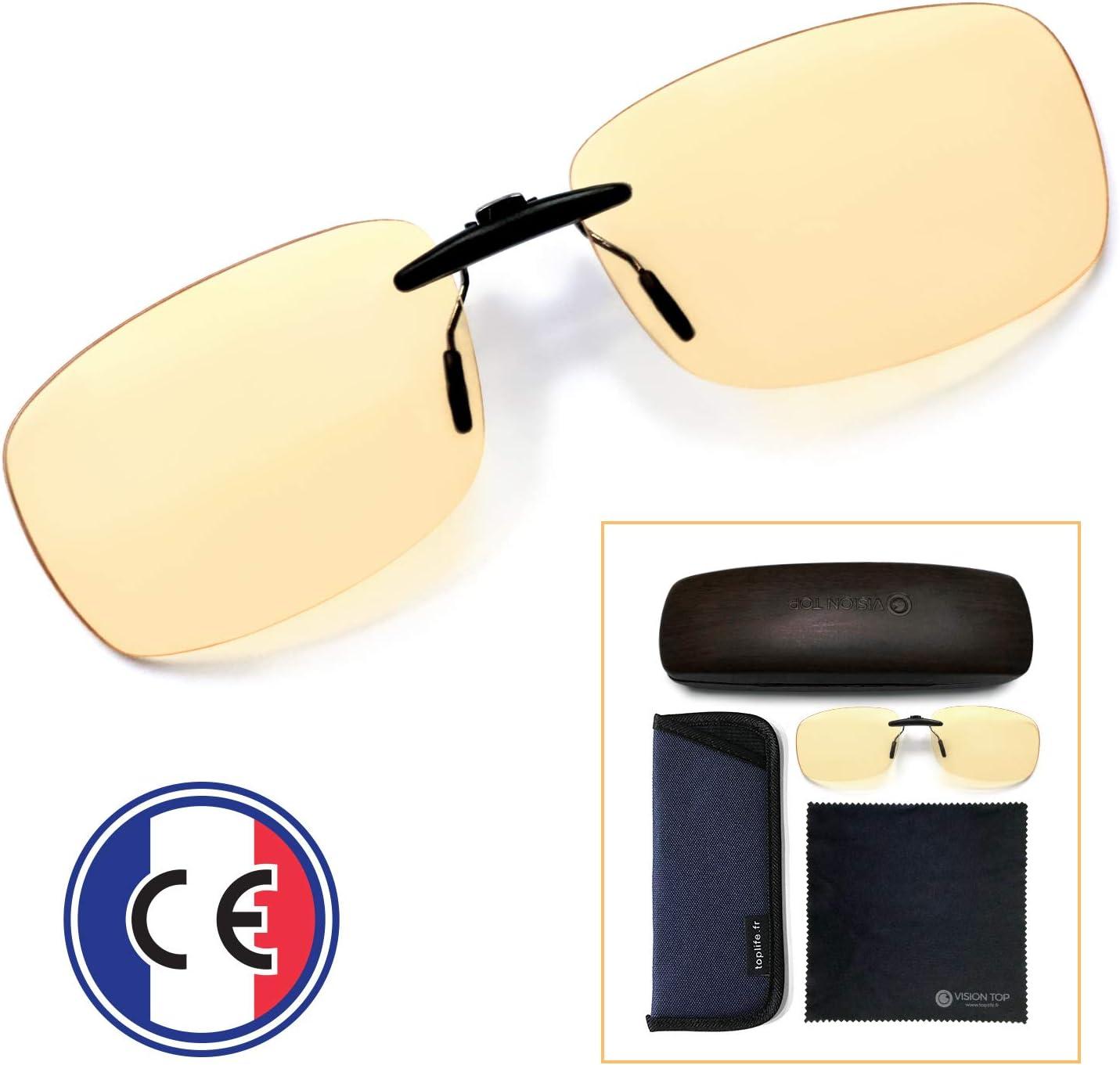 Clip Filtran La Luz Azul - Lentes Gaming Alta Protección Que Se Adaptan a Cualquier Montura - Gafas de Clip para Bloquear la luz Azul – Protección Filtran Pantallas Ordenador