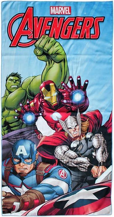 Marvel Avengers Toalla de playa para niños, micro poliéster, 140 x 70 cm: Amazon.es: Hogar