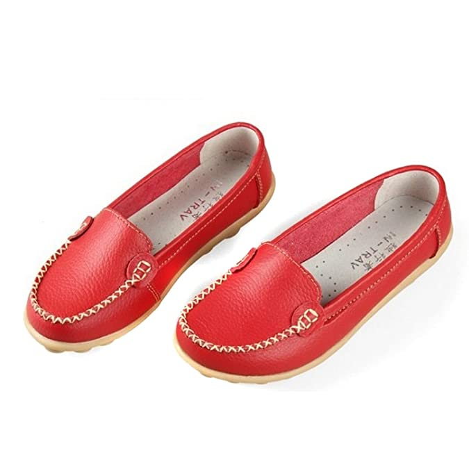 Hee Grand Women Work Flat Moccasin Loafer Slip-On Shoes: Amazon.co.uk: Shoes  & Bags