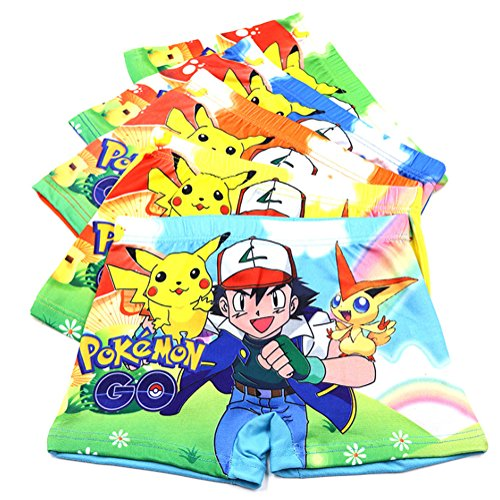 2-8 Years Old Boys Character Boxer Briefs Cotton Cool Underwear 5 Pack