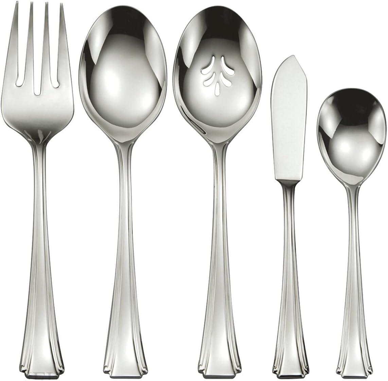 Oneida Flatware Raffia Salad Serving Spoon
