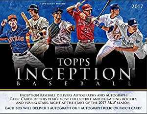 "2017 Topps Inception Baseball Hobby 7 Card ""Pack/Box"" (Sealed) Releases 5/19/17"