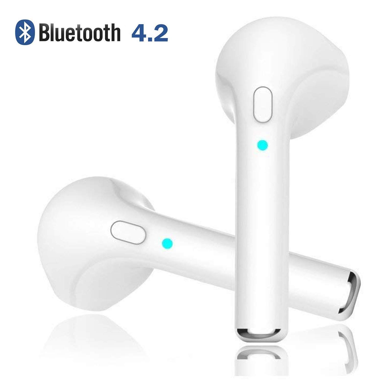 Zpower Wireless Bluetooth, Auriculares intraurales estéreo, Auriculares inalámbricos cancelación de Ruido con micrófono Integrado para Huawei, Samsung, ...