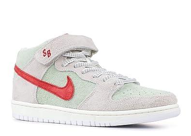 Amazon.com | Nike Men's SB Dunk Mid Pro QS, SAIL/Gym RED-Fresh Mint ...
