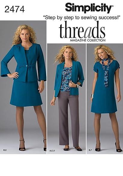 Amazon Simplicity Threads Magazine Pattern 2474 Womens Dress