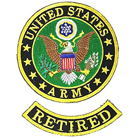 US Army Retired Small Patch - Military Vet Patch