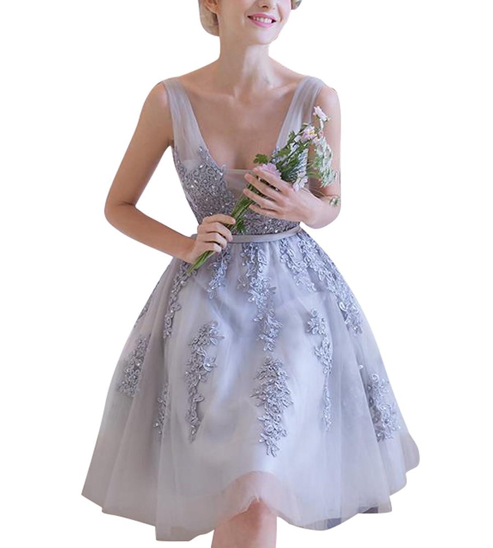 Judi Dench@ A-Linie Appliques bordelndes kurzes Abschlussball-Kleid ...