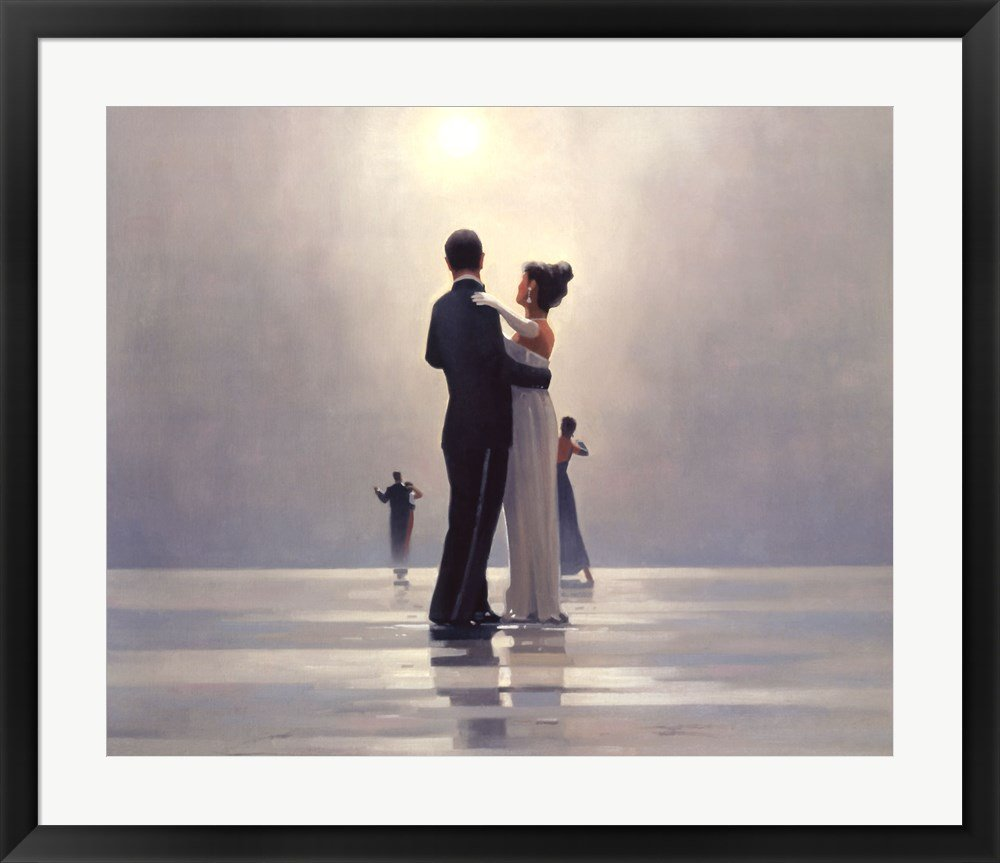 Dance Me to the End of Love by Jack Vettriano Framed Art Print Wall Picture, Black Frame, 33 x 29 inches