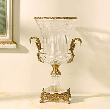 Amazon De Kristallglas Vase Europaische Art Amerikanischer