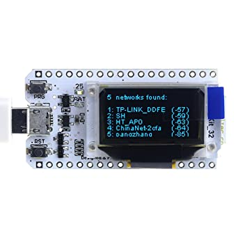 diymore WIFI Kit 32 ESP32 WIFI wireless with 0 96 inch OLED Display CP2102  Development Board for Arduino Nodemcu