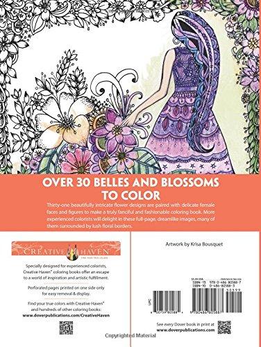 Creative Haven Belles And Blossoms Coloring Book Books Amazonin Krisa Bousquet