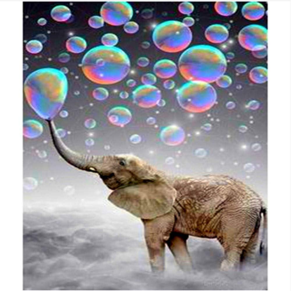 WACYDSD Pintar por Números Elefante Y Burbujas De Aire Pintura Al ...