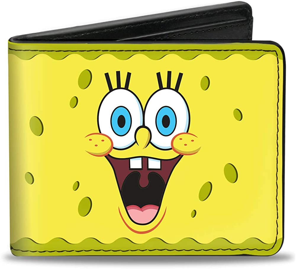 Wallet Bifold PU SpongeBob 2 Expressions Yellows