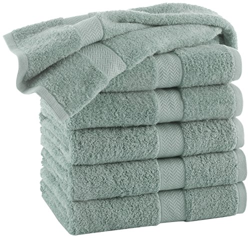 COMMERCIAL PREMIUM 12 PIECE HAND TOWEL SET BY MARTEX - 12 Hand Towels, Home, Business, Shower, Tub, Gym, Pool, Golf, Salon - Machine Washable, Absorbent, Professional Grade, Hotel Quality - AQUA (Towels Hand Aqua)